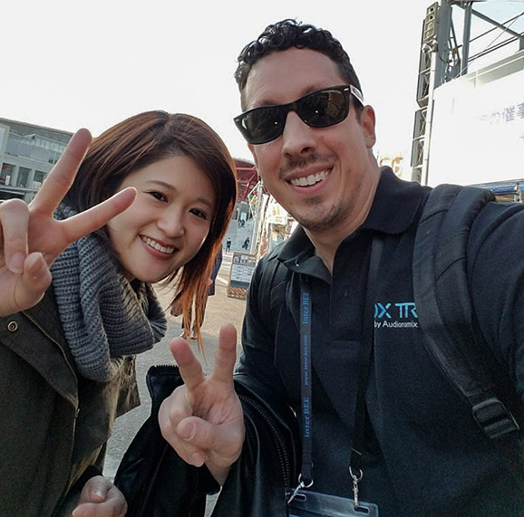Ryoko and Steve celebrate a successful InterBEE