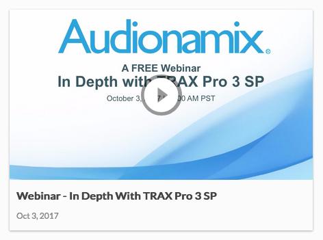 TRAX Pro 3 SP Webinar
