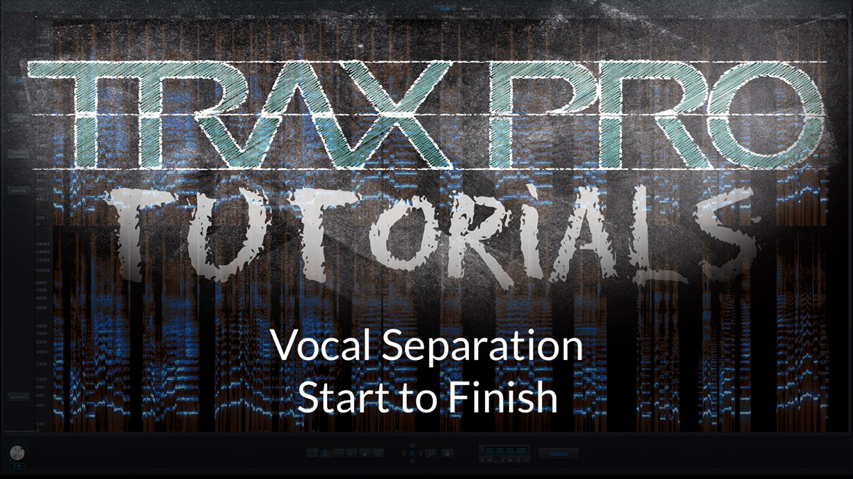 Vocal Extraction with TRAX Pro 2